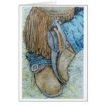 botas del workin tarjeta de felicitación