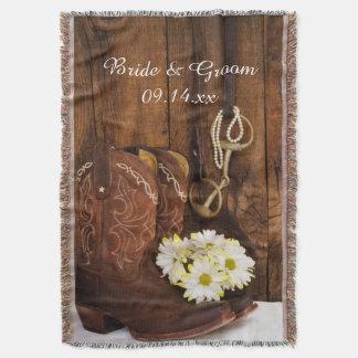 Botas, margaritas y tiro del boda del país del manta