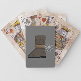 Botas occidentales 2 cartas de juego