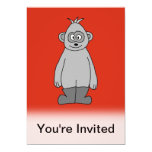 Botas que llevan del gorila invitación 12,7 x 17,8 cm