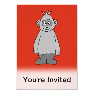 """Botas que llevan del gorila invitación 5"""" x 7"""""""