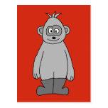 Botas que llevan del gorila postal