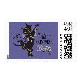 Botas reales del desgaste de los gatos sello postal