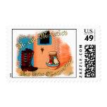Botas requeridas timbre postal