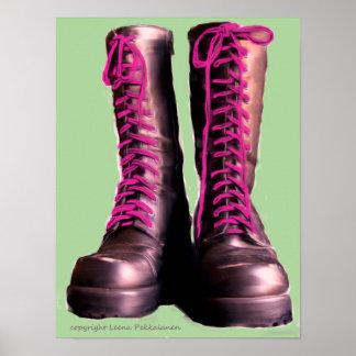 Botas rosadas posters