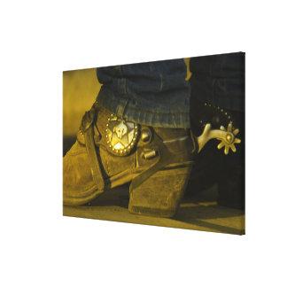 Botas y estímulos impresión de lienzo