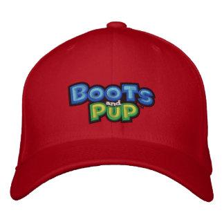 Botas y logotipo del perrito gorra bordada