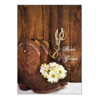 Botas y país del pedazo del caballo que casa notas invitación 11,4 x 15,8 cm