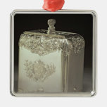 Bote de plata del té de Paul de Lamerie Adorno Navideño Cuadrado De Metal