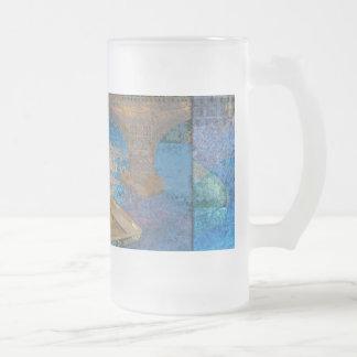 Bote de remos tazas de café