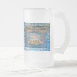 Bote de remos taza de café