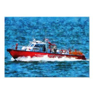 """Bote de salvamento del fuego invitación 5"""" x 7"""""""