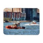 Bote de salvamento el río Hudson del fuego Imán