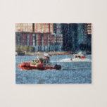 Bote de salvamento el río Hudson del fuego Puzzle Con Fotos