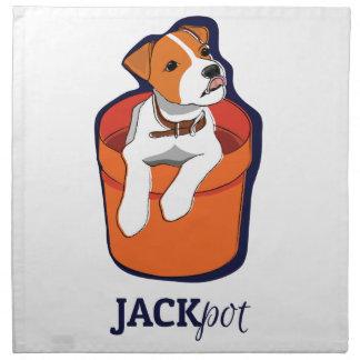 """Bote"" Jack Russell Terrier Servilletas Imprimidas"
