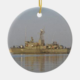 Bote patrulla ornamento de navidad