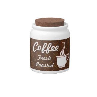 Bote retro del café platos para caramelos