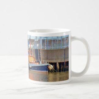 Bote salvavidas británico histórico taza de café