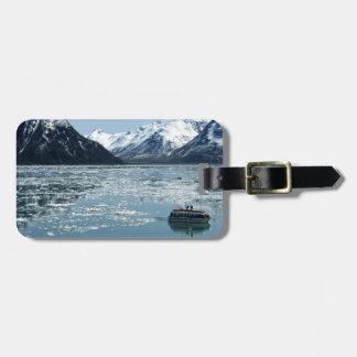 Bote salvavidas del glaciar etiquetas para equipaje