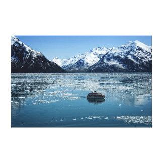 Bote salvavidas del glaciar lienzo envuelto para galerías