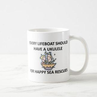 Bote salvavidas del Ukulele Taza De Café