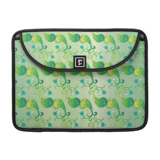 Boteh Tulip BW Pattern IV Sleeves For MacBook Pro