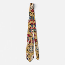Botehs Tear Drop :: 17th Century Colorful Muted Neck Tie