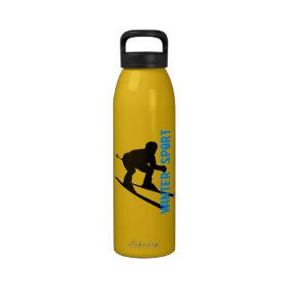 Botella 2 del esquí del deporte de invierno botella de agua reutilizable