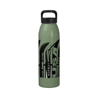 Botella 3 del deporte de invierno de la cuchilla d botellas de agua reutilizables