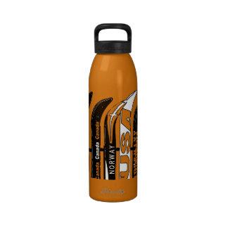 Botella 4 del deporte de invierno de la cuchilla d botella de agua reutilizable