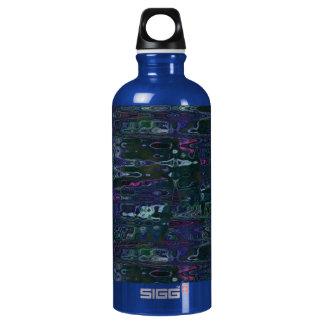Botella abstracta azul de la libertad de las