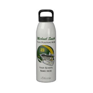 Botella amarilla de la libertad del casco de fútbo botella de agua