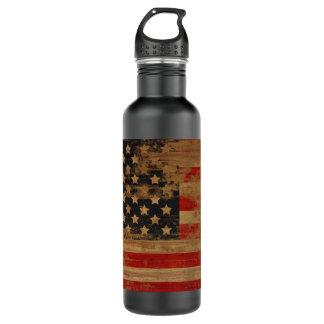 Botella americana de la libertad de la bandera del