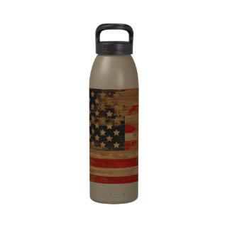 Botella americana de la libertad de la bandera del botellas de agua reutilizables