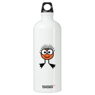 Botella anaranjada de la bebida del carácter de la