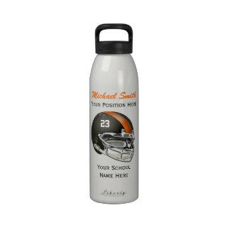Botella anaranjada de la libertad del casco de fút botella de agua reutilizable