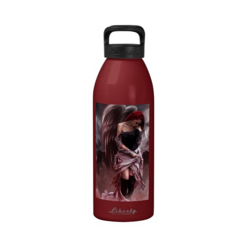 Botella angelical de la libertad de las memorias botallas de agua
