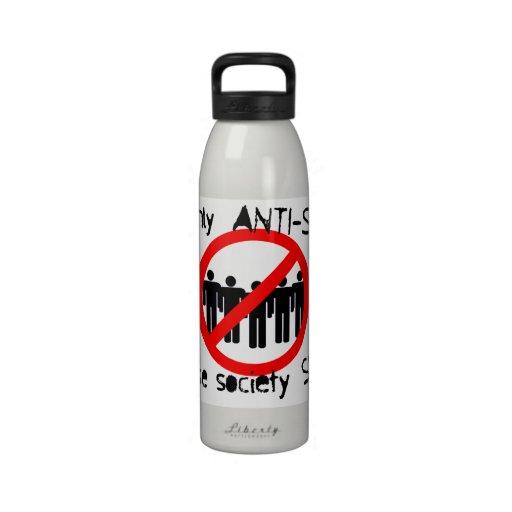 Botella antisocial de la libertad botella de agua