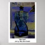 """Botella azul "" Poster"