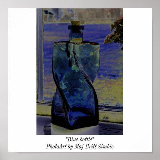 Botella azul posters