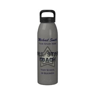 Botella azul y gris de la libertad del coche de Al Botallas De Agua