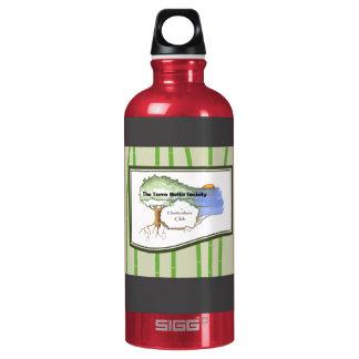 Botella-Bambú de aluminio reciclado del agua de