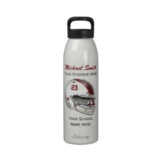 Botella blanca de la libertad del casco de fútbol  botella de beber