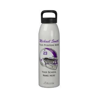 Botella blanca de la libertad del casco de fútbol  botellas de beber