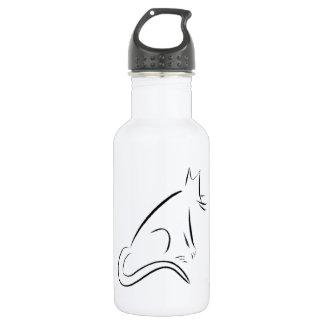 Botella blanca de la libertad del gato