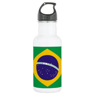 Botella brasileña de la libertad de la bandera