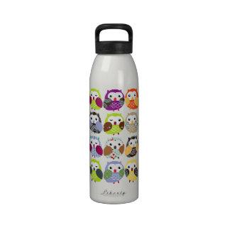 Botella colorida de la libertad del modelo del búh botella de agua