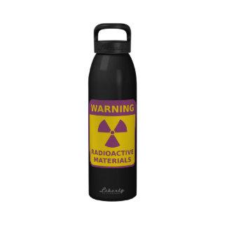 Botella de agua amonestadora de la radiación