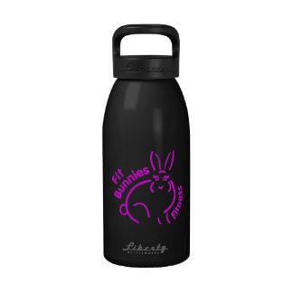 Botella de agua apta del negro del conejito