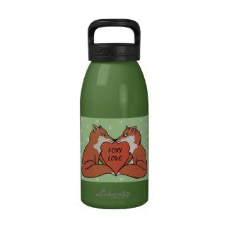 Botella de agua astuta del amor
